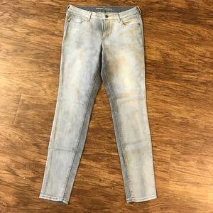Old Navy Rockstar Skinny Jeans Distressed Gray 10